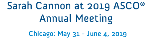 Sarah Cannon at 2019 ASCO annual meeting